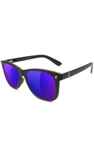 Mikemo Polarized Sunglasses - Matte Black/Blue Mirror