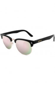 Morrison Sunglasses - Black/Pink Mirror