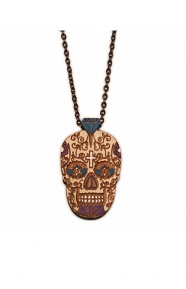 GoodWood Clothing, Mini Day of the Dead Necklace - Purple