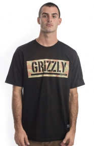 Lands And Waters Camo Box T-Shirt - Black