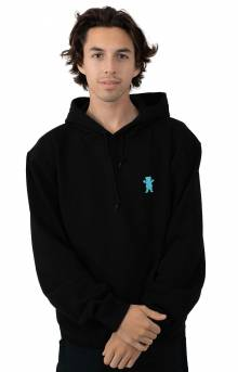 OG Bear Embroidered Pullover Hoodie - Black/Tiffany