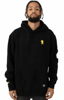 OG Bear Embroidered Pullover Hoodie - Black/Yellow