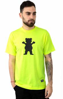 Safety Bear T-Shirt - Neon Green