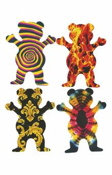XL Bear Sticker 4 Pack