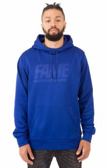Fame Block Press Pullover Hoodie - Neon Blue