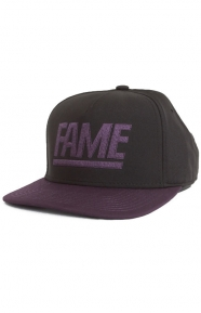 Two Tone Snap-Back Hat - Black/Purple