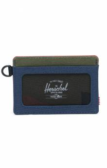 Charlie ID Wallet - Navy/Red/Woodland Camo