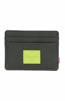 Charlie Wallet - Dark Olive/Lime Green