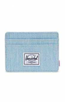 Charlie Wallet - Light Denim Crosshatch