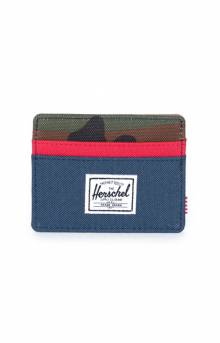 Charlie Wallet - Navy/Red/W.Camo