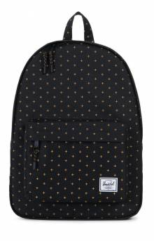 Classic Backpack - Black Gridlock Gold