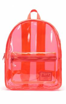 Classic Clear Backpack XL - Hot Coral
