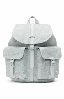 Dawson Small Backpack - Light Grey Crosshatch