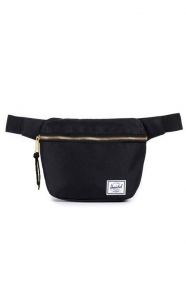Fifteen Hip Pack - Black/Black Leather Pull