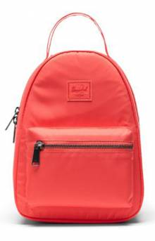 Flight Satin Nova Mini Backpack - Hot Coral