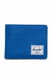 Hank Wallet - Monaco Blue Crosshatch
