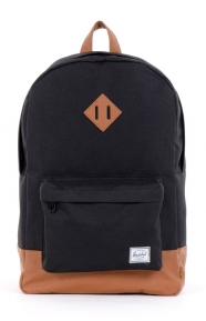 Heritage Backpack - Black/Tan Synthetic Leather