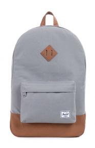 Heritage Backpack - Grey/Tan Synthetic Leather