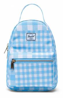 Nova Mini Backpack - Gingham Alaskan Blue