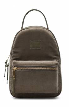 Nova Mini Corduroy Backpack - Ivy Green