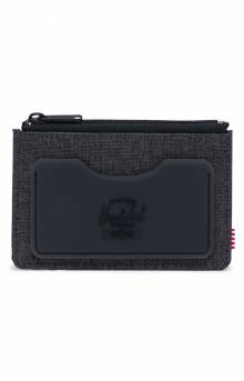 Oscar Wallet - Black Crosshatch