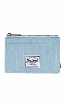 Oscar Wallet - Light Denim Crosshatch