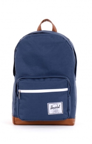 Pop Quiz Backpack - Navy/Tan Synthetic Leather