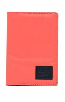 Raynor Passport Holder - Hot Coral Reflective/Black