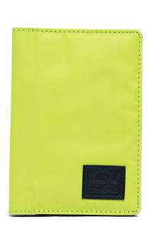 Raynor Passport Holder - Lime Green/Black Reflective