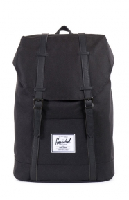 Retreat Backpack - Black/Black Synthetic Leather