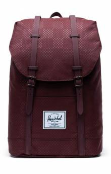 Retreat Backpack - Plum Dot Check