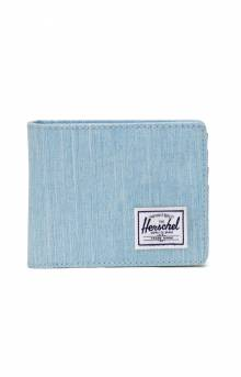 Roy Coin Wallet - Light Denim Crosshatch