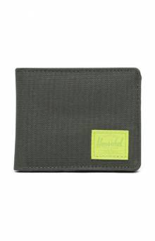 Roy Wallet - Dark Olive/Lime Green