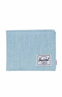 Roy Wallet - Light Denim Crosshatch