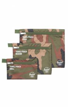 Travel Pouches - Woodland Camo