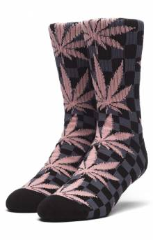 Checkered Plantlife Socks - Black