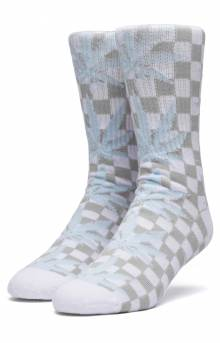 Checkered Plantlife Socks - White
