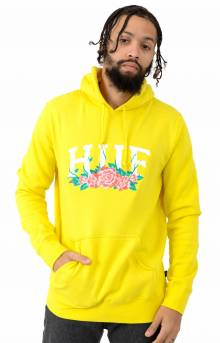 City Roses Pullover Hoodie - Aurora Yellow