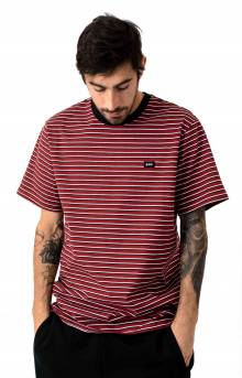 David Striped S/S Knit T-Shirt - Red Pear