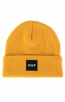 Essentials Box Logo Beanie - Golden Spice