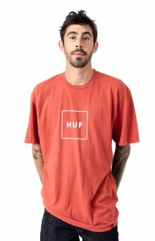 Essentials Box Logo T-Shirt - Poppy