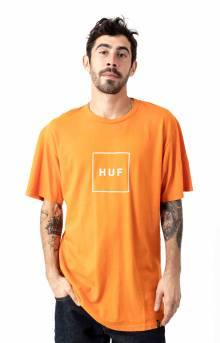 Essentials Box Logo T-Shirt - Russet Orange