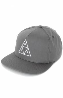 Essentials Triple Triangle Snap-Back Hat - Charcoal