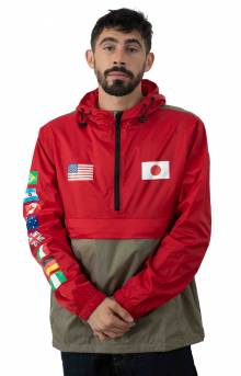 Flags Anorak Jacket - Cyber Red