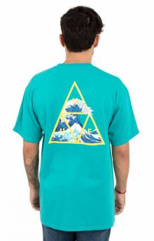 High Tide Triangle  T-Shirt - Tropical Green