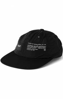 Huf Offset 6 Panel Hat - Black