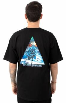 Ice Rose Triangle T-Shirt - Black