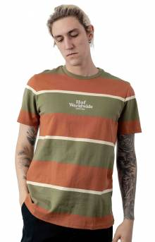 Mazon Stripe S/S Knit T-Shirt - Martini Olive