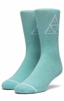 Melange Triple Triangle Socks - Bright Aqua