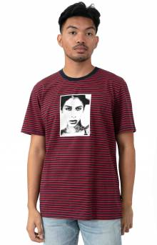 Molly Striped T-Shirt - True Red